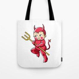 Little Red Devil Kewpie Baby Tote Bag