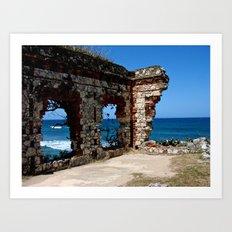 Aguadilla Ruins Art Print