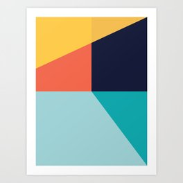 Colorful pattern XI Art Print