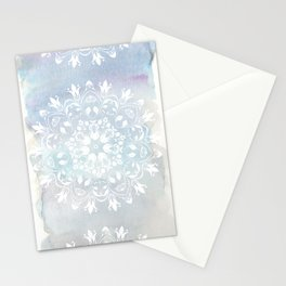 pastel lace design Stationery Cards