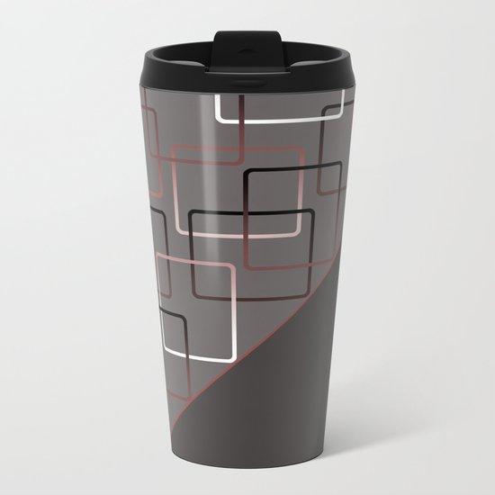 ABSTRACT GEOMETRIC Metal Travel Mug