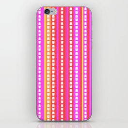 Fuschia Stripes iPhone Skin
