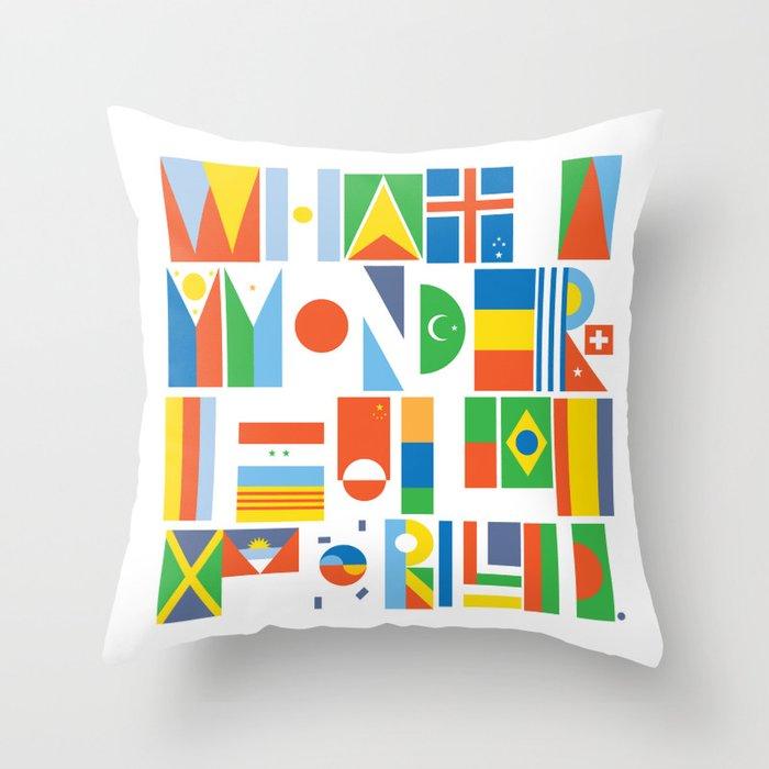 What A Wonderful World II Throw Pillow