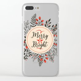 Merry And Bright Clear iPhone Case