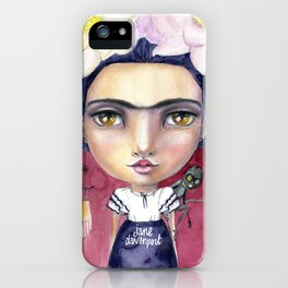 Little Frida by Jane Davenport iPhone Case