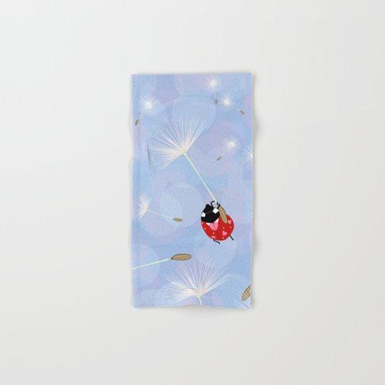Cute Lady Bug Design Hand & Bath Towel