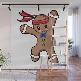Gingerbread Man Christmas Present Gift Baking Cartoon Wall Mural