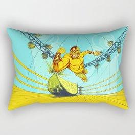 Luchador Lime Rectangular Pillow