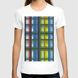 colorful striking retro grid pattern Nis T-shirt