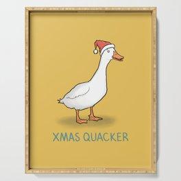 Christmas Quacker Serving Tray
