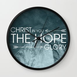 Hope of Glory - Colossians 1:27 Wall Clock