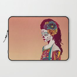 Mexican Skull Lady Laptop Sleeve