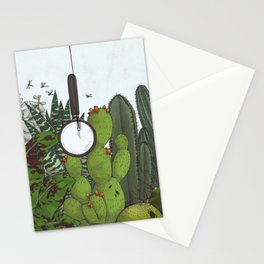 emptiness and magnifying glass Stationery Cards