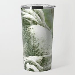 Angelic Cherub Looks Over The Headstones Travel Mug