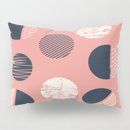 Abstract Circles In Pink Pillow Sham