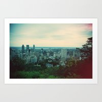 montreal Art Prints featuring Montreal  by The voyageuse