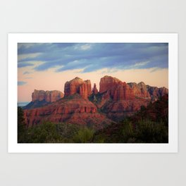Moody Sedona Landscape by Reay of Light Art Print