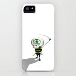 One eye casual skeleton iPhone Case