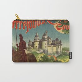 Vintage French railroad advertising 1897 Carry-All Pouch