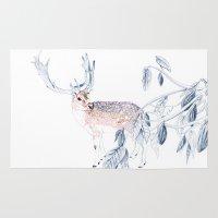 reindeer Area & Throw Rugs featuring Reindeer by Lisbel