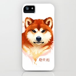 Akita Stylistic Portrait iPhone Case