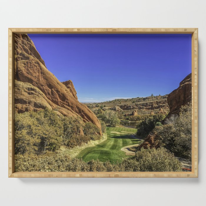 Arrowhead Golf Course Hole 13 Serving Tray