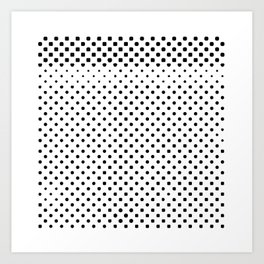 poka dot pixels Art Print