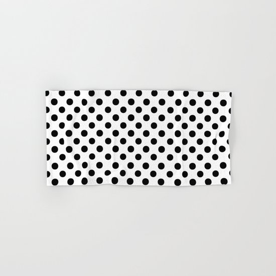 Polka Dots (Black/White) Hand & Bath Towel