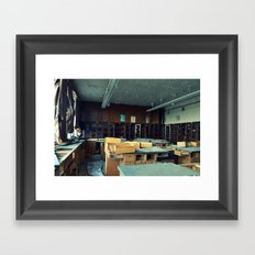 Empty Science Lab Framed Art Print