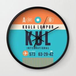 Baggage Tag A - KUL Kuala Lumpur Malaysia Wall Clock