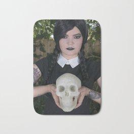 Wednesday Addams with skull Bath Mat