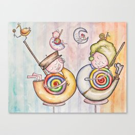Sugar Addicts Take a Nap Canvas Print