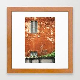 Rusty Housewall Framed Art Print