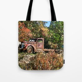 Old Trucker's Ride - Big Rig Truck Tote Bag