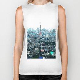 My Love - Tokyo Tower Skyline Biker Tank