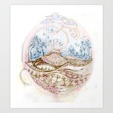 Fjord Fest Art Print