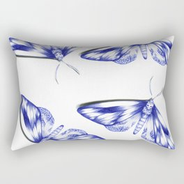 blue moths Rectangular Pillow
