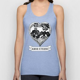 Amor Eterno | Eternal Love | Black and White Unisex Tank Top