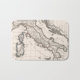 Vintage Map of Italy (1825) Bath Mat