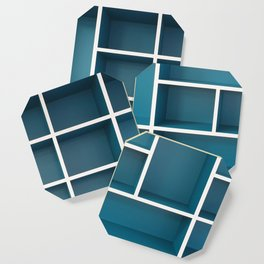 blue shelves Coaster