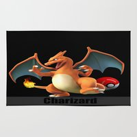 charizard Area & Throw Rugs featuring Charizard by Yamilett Pimentel