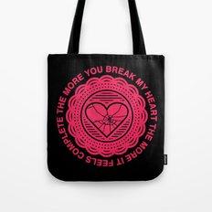 Shattered Hearts Badge Tote Bag