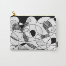 maze black and white Carry-All Pouch