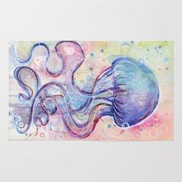 Jellyfish Watercolor Rug
