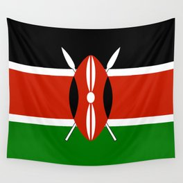 Kenyan national flag - Authentic version Wall Tapestry