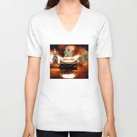 honda V-neck T-shirts featuring HONDA NSX,RACING CAR,NIGHTMARE by ira gora