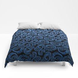 Scandinavian Peacock ~ Blue 02 Comforters