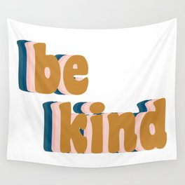 Be Kind Fun Retro Lettering Wall Tapestry