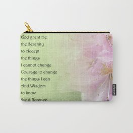 Serenity Prayer Pink Rhododendrons Carry-All Pouch