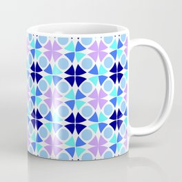 Symmetric patterns 189 blue and purple Coffee Mug